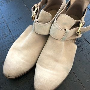 Micheal Micheal kors tan suede ankle boots Sz 8M